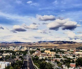 View of Boise Spotlight