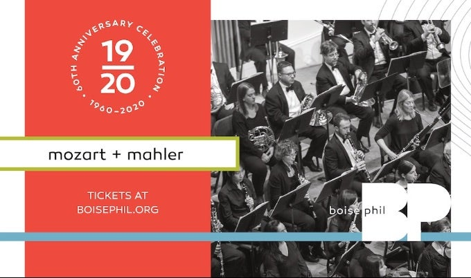 Boise Philharmonic MOZART AND MAHLER EVENT IMAGE